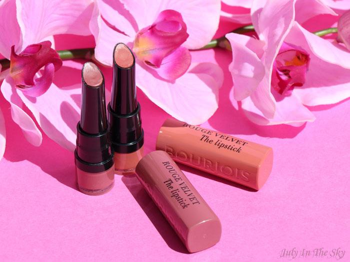 blog beauté Bourjois Rouge Velvet The Lipstick Peach Tatin Nohalicious avis test swatch