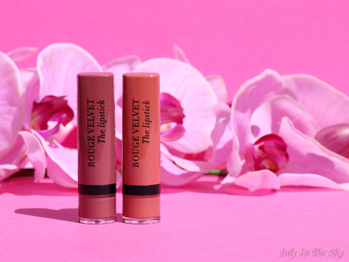 blog beauté Bourjois Rouge Velvet The Lipstick Peach Tatin Nohalicious avis test swatch