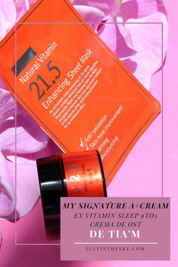 blog beauté kbeauty avis test My Signature A+Cream Tia'm OST Vitamin Sleep 9to5 Crema