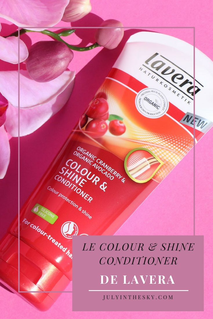 blog beauté colour and shine conditioner lavera après-shampooing protection couleur bio avis