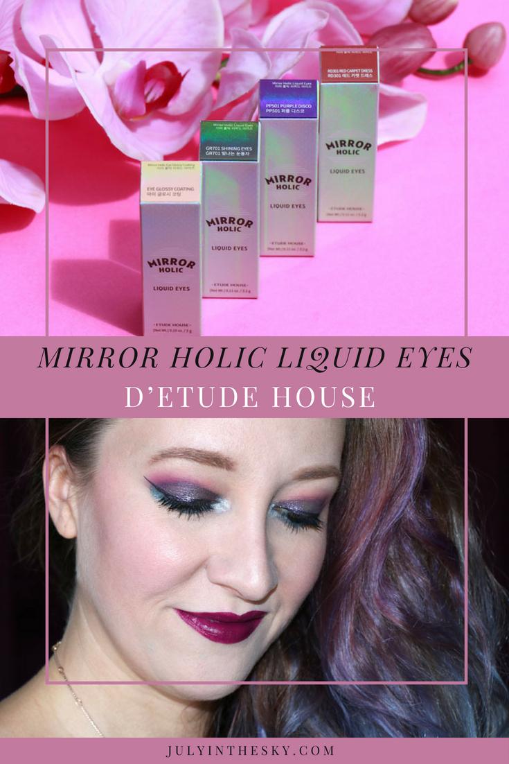 blog beauté Etude House Mirror Holic test avis kbeauty swatch