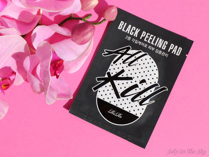 blog beauté kbeauty Joah Box avril avis test All Kill Black Peeling Pad Rire