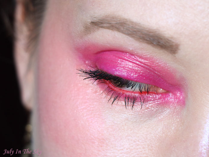 blog beauté Monday Shadow Challenge corail fuchsia tutoriel maquillage