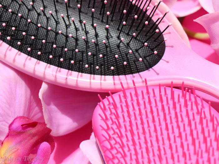 blog beauté avis Wet Brush watercolor comparatif Tangle Teezer
