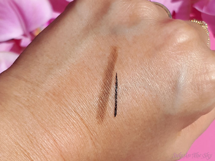 blog beauté You Are Cosmetics avis test cruelty-free maquillage vegan eyeliner feutre noir swatch crayon sourcils Golden Brown
