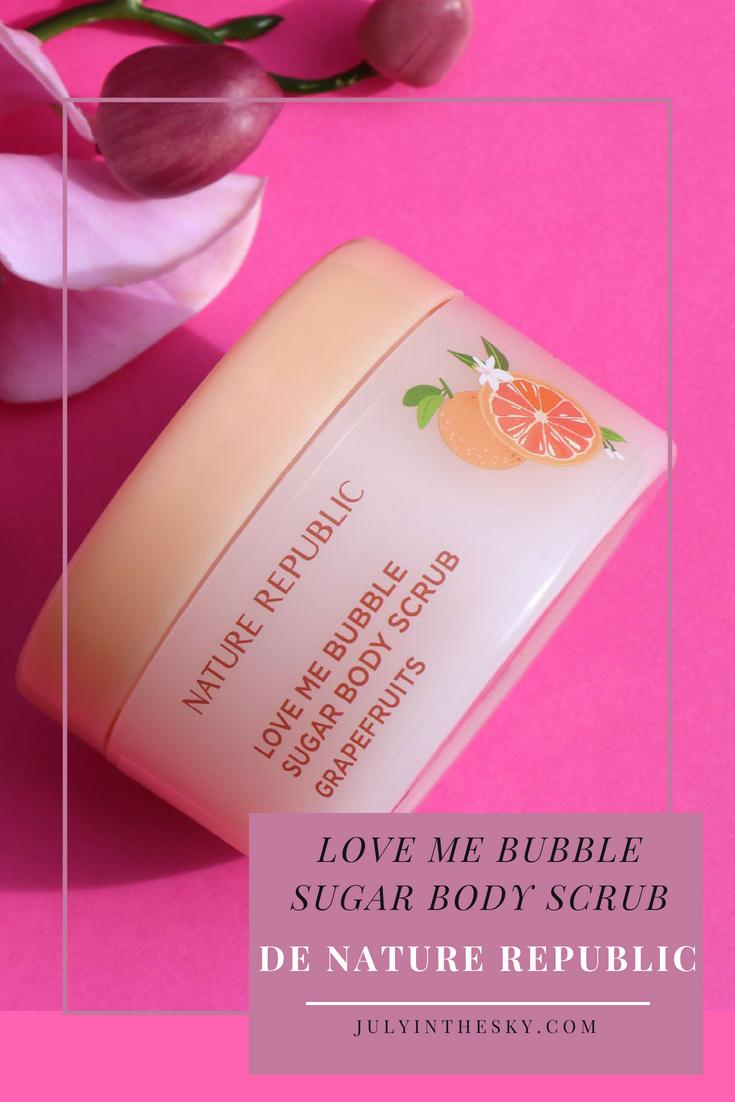 blog beauté kbeauty Nature Republic Love Me Bubble Sugar Body Scrub