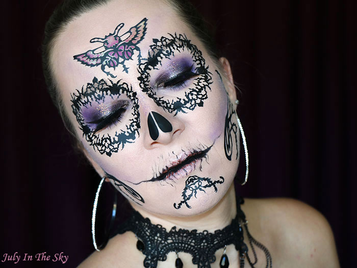 blog beauté tutoriel make-up Halloween plum skull Face Lace