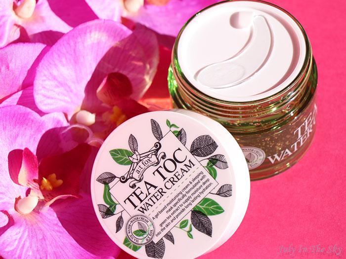 blog beauté kbeauty TesterKorea Tea Toc Water Cream A;T FOX