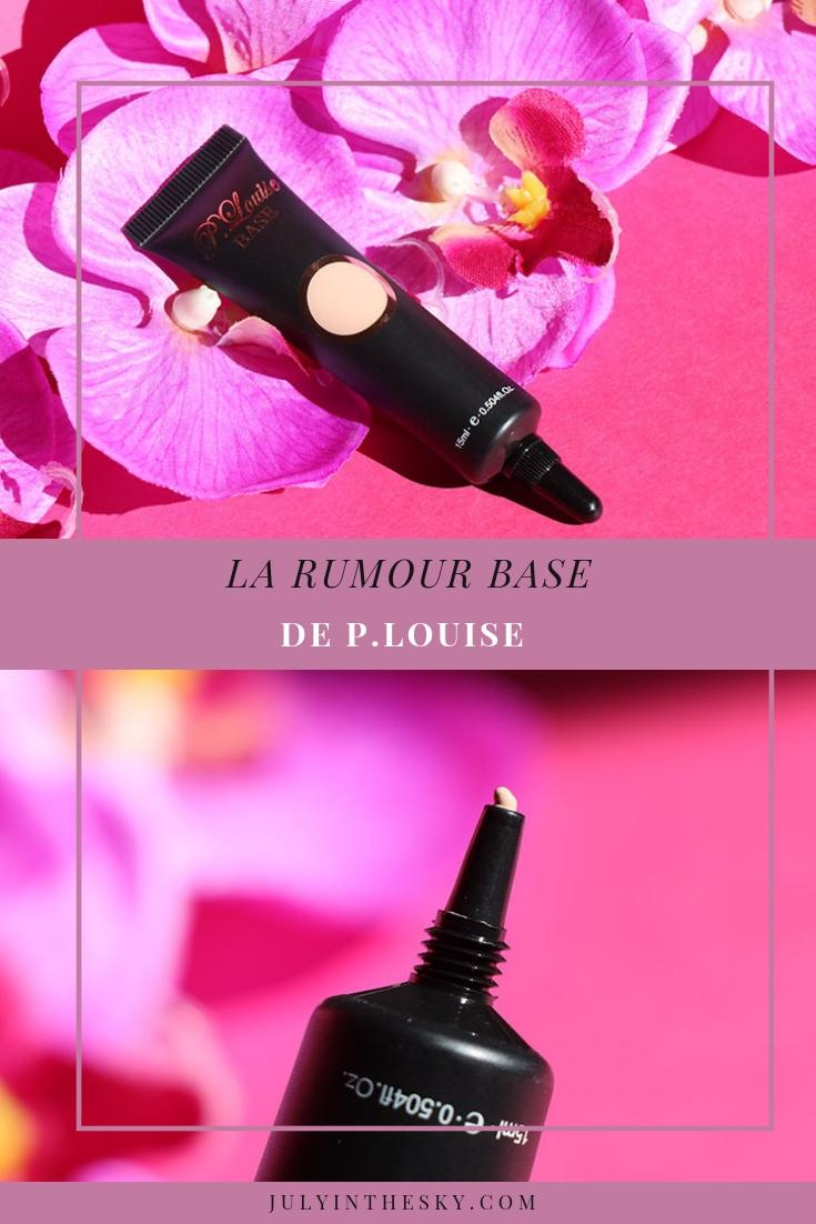 blog beauté P.Louise Rumour base avis