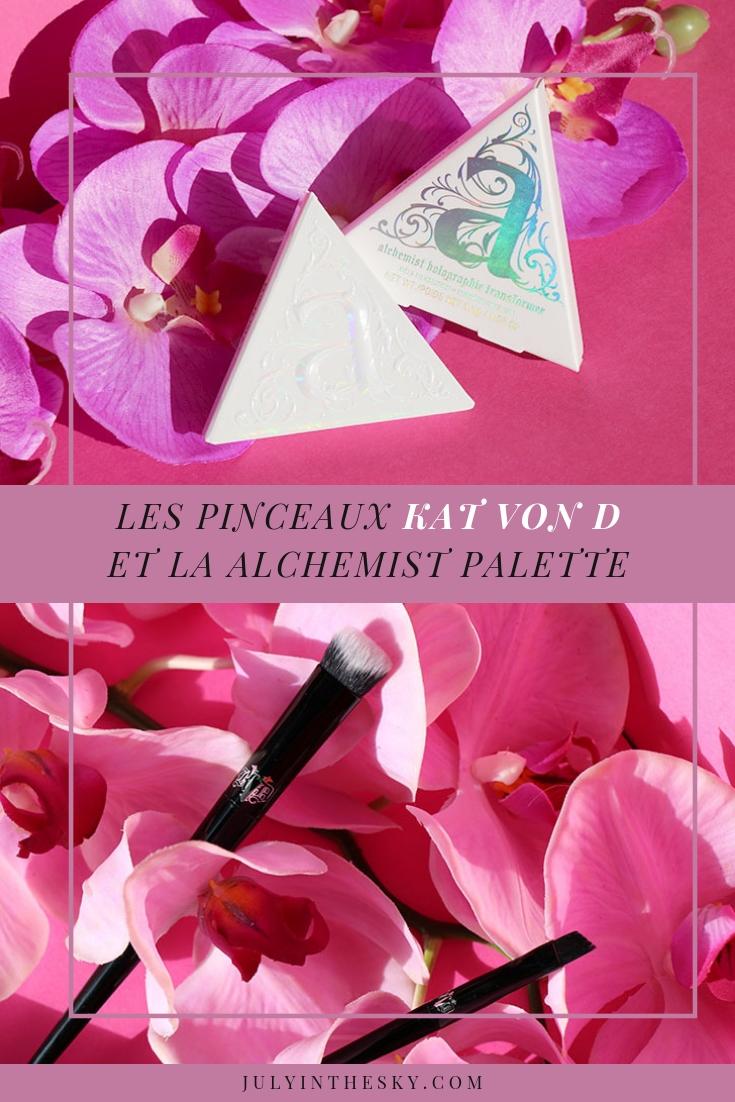 blog beauté Kat Von D palette highlighter alchemist holographic transformer palette pinceaux