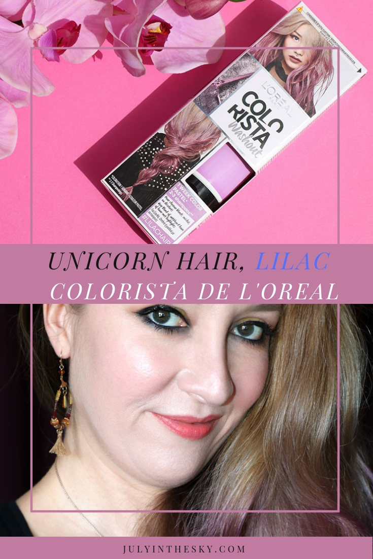 blog beauté L'Oréal Colorista Washout #LilacHair #PurpleHair avis test comparaison swatch