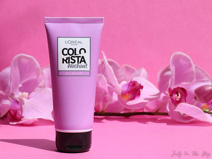 blog beauté L'Oréal Colorista Washout #LilacHair #PurpleHair avis test comparaison swatch