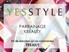 parrainage réduction kbeauty YesStyle