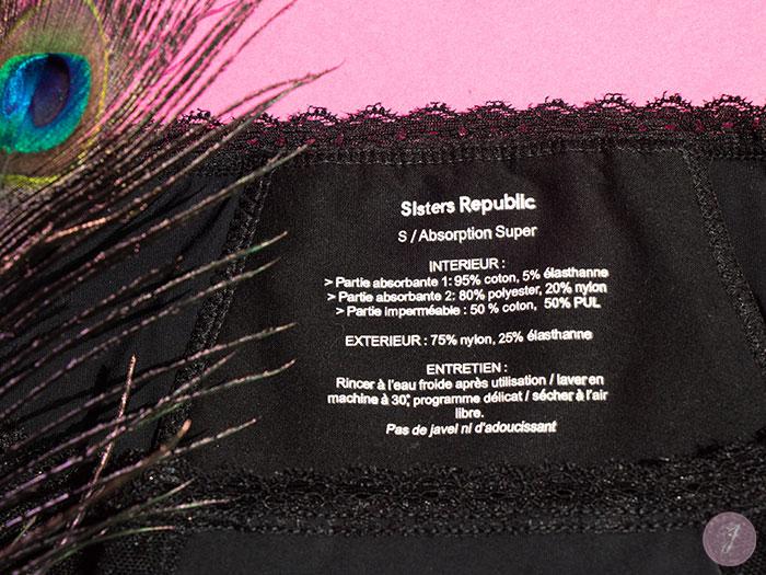 A la découverte des culottes de règles Sisters Republic
