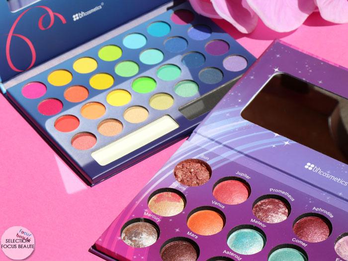 BH Cosmetics : les palettes Galaxy Chic et Take Me To Brazil