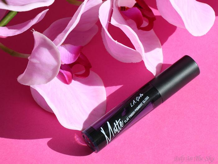 blog beauté la girl matte pigment gloss black currant