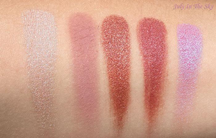 blog beauté makeup geek swatch shima shima petal pusher roulette anarchy hot pant