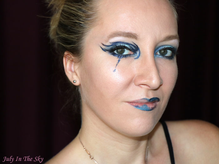 blog beauté monday shadow challenge sad blue