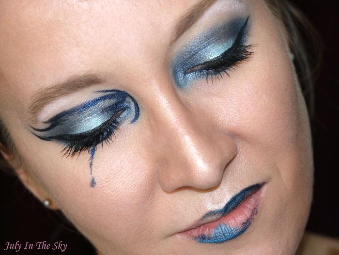 blog beauté monday shadow challenge sad blue