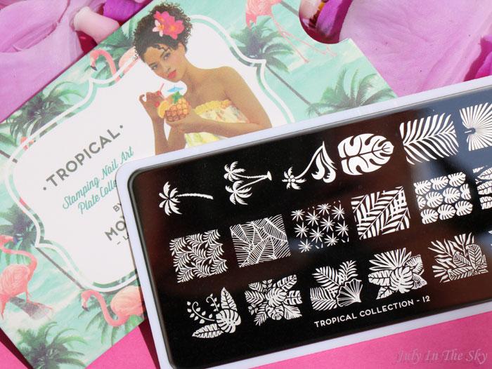 blog beauté nail art moyou london stamping plaque tropical