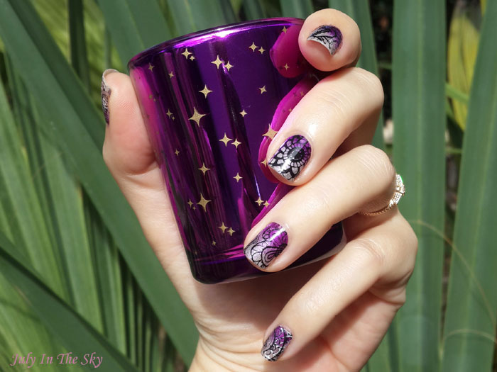 Nail Art : le dégradé à l'éponge avec le latex Cuticule Guard de MoYou London