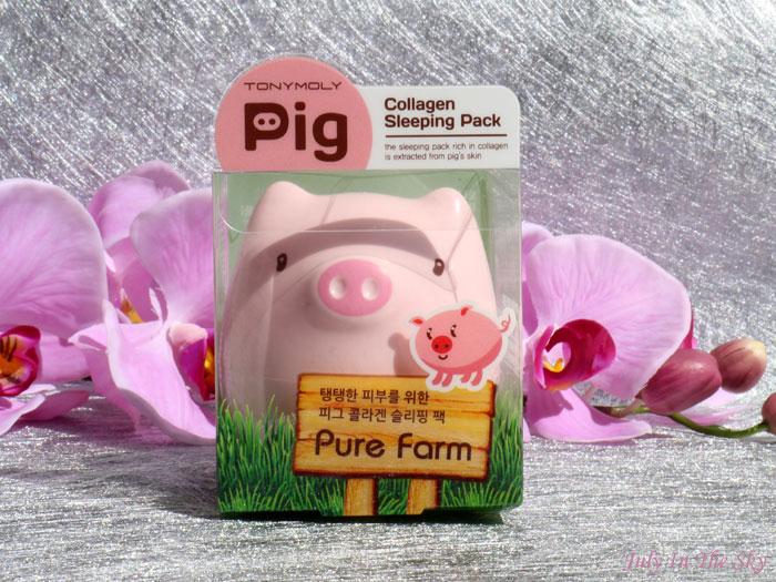 blog beauté Pure Farm Pig Collagen Sleeping Pack Tony Moly