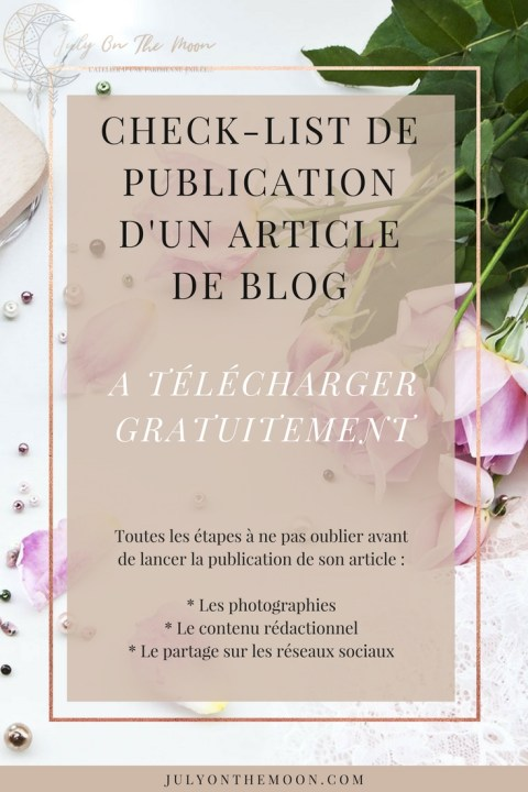 blog photographie étapes clés publication article blog checklist