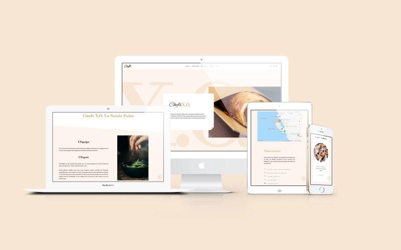 Refonte du site vitrine Chefs X.O. - Web Design - 2021