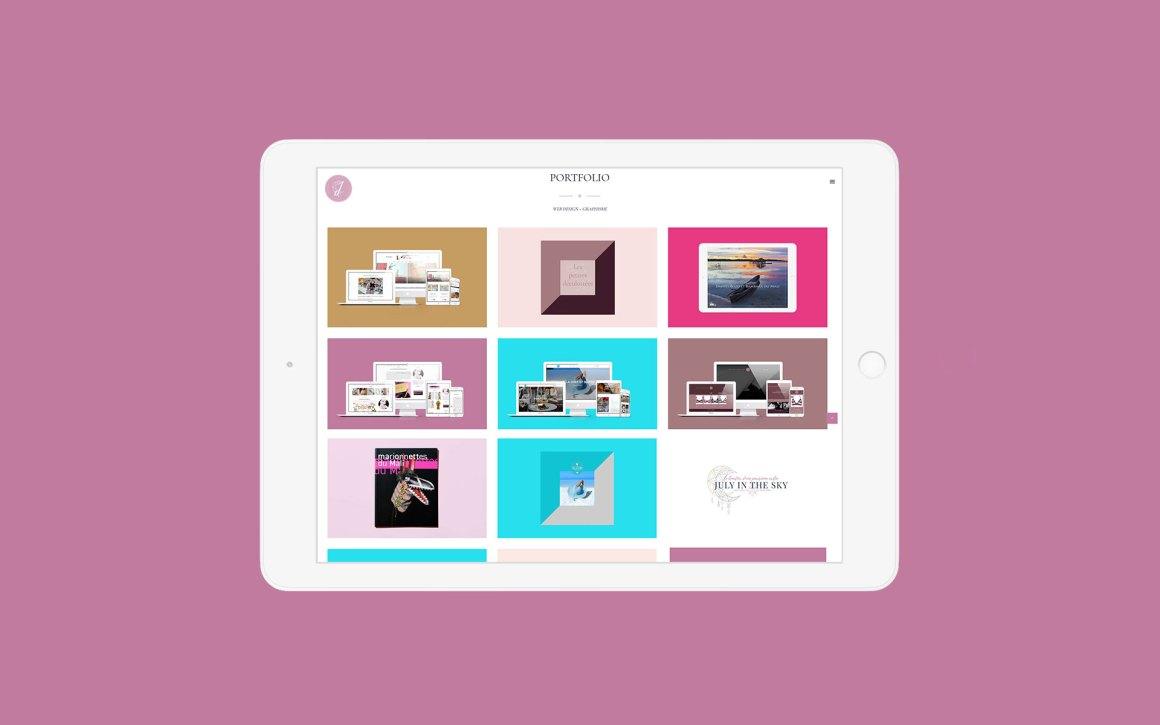 Mon portfolio de web designer
