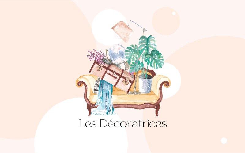 Création du logo illustré à l'aquarelle de la société Les Décoratrices - Graphisme - 2021