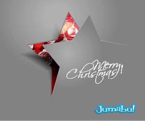 Estrella navidad carton vectores - Vectores Navideños Estrellas y Pinitos