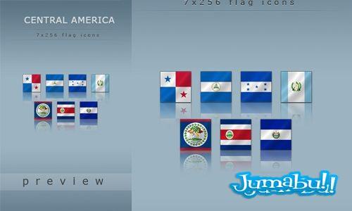 banderas america central - Banderas de America Central en PNG