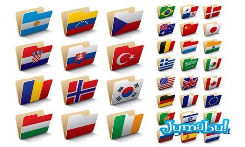 banderas carpetas all world - Carpetas con Banderas del Mundo