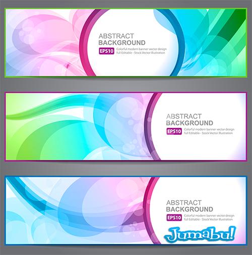banners en vectores - Banners Coloridos con Efectos Transparentes en Vectores