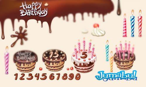 birthday vectors - Vectores de Cumpleaños