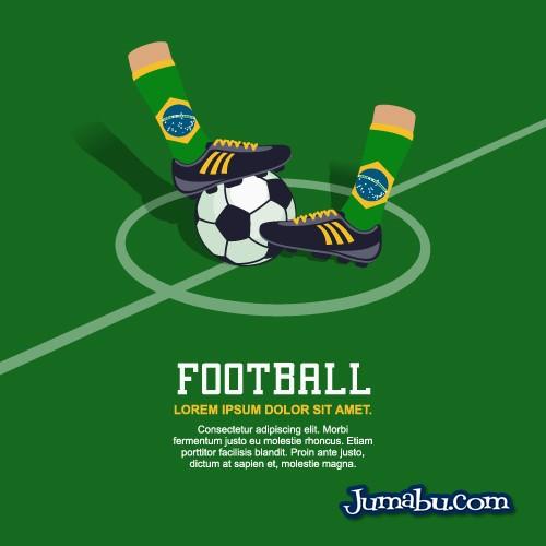 botines-medias-vectores-brasil-futbol
