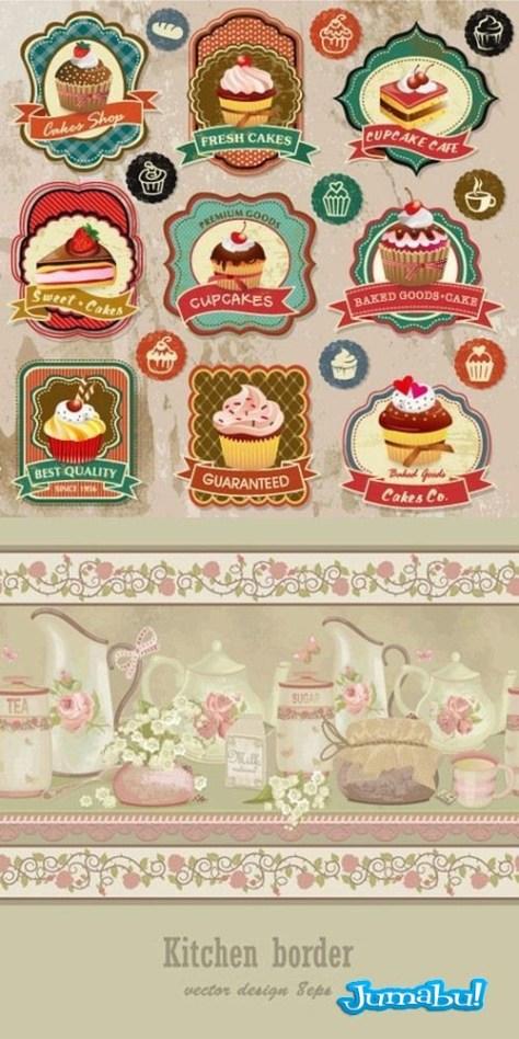 tortas-vectores-bocaditos-vectorizados