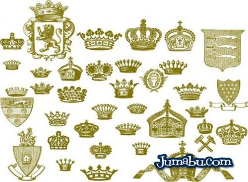 coronas-europeas-en-vectores