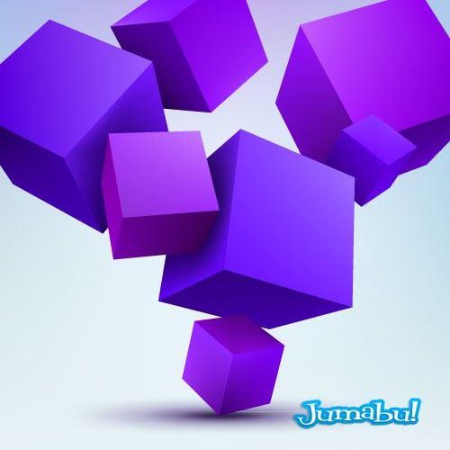 tres-dimensiones-cuadrados-vectorizados