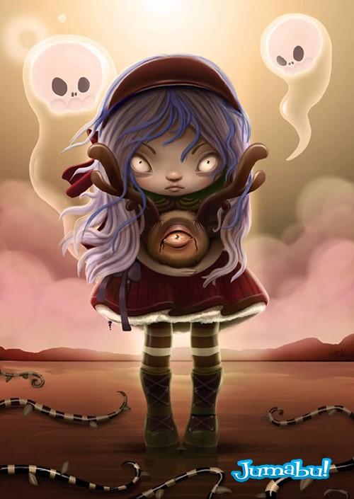 dibujo halloween pintura digital - Tutorial Dibujo Pintura Digital con Motivo Halloween
