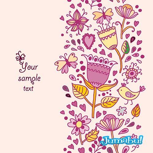 dibujos de flores vectoriales ornamentos arabescos - Dibujos de Flores Coloridas en Vectores