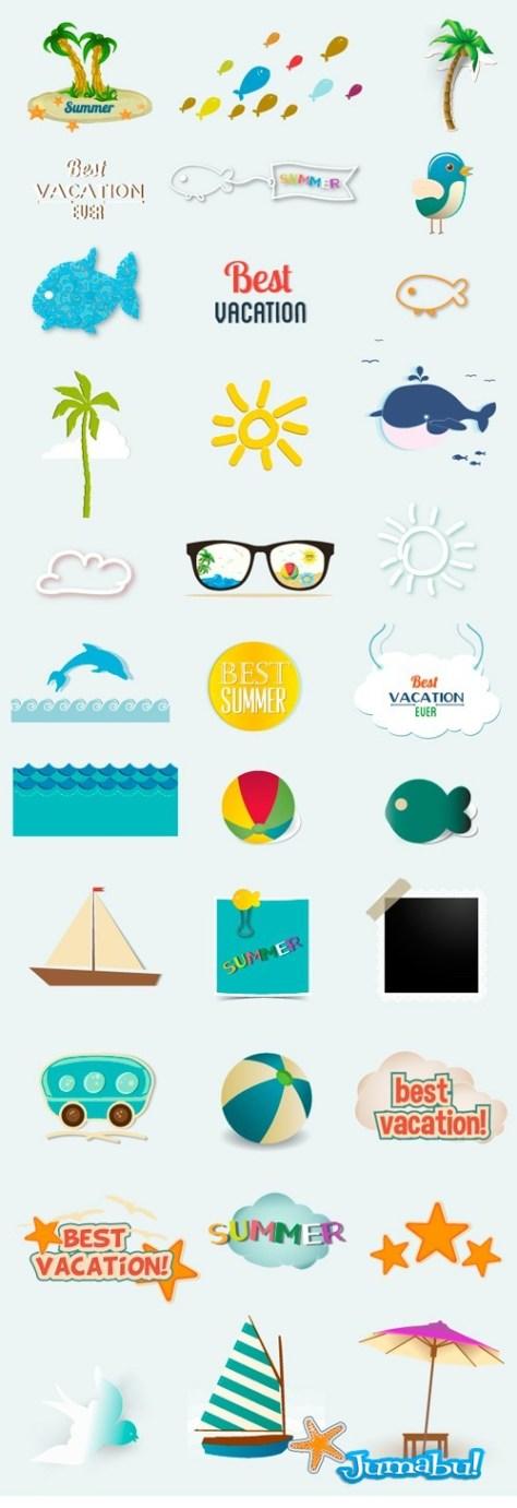 elementos-de-verano-en-vectores