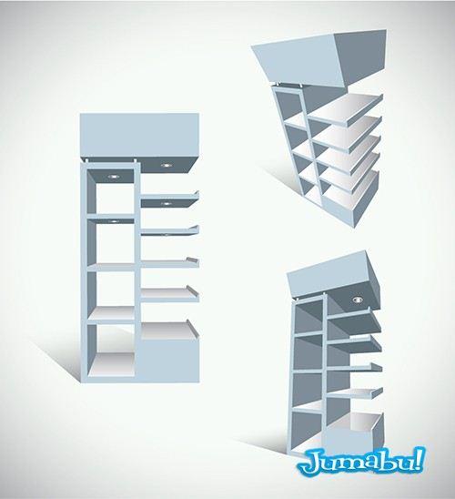 diseño-estanterias-en-vectores