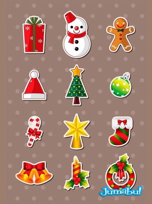 Varias figuras navide as en vectores jumabu for Figuras de nieve navidenas