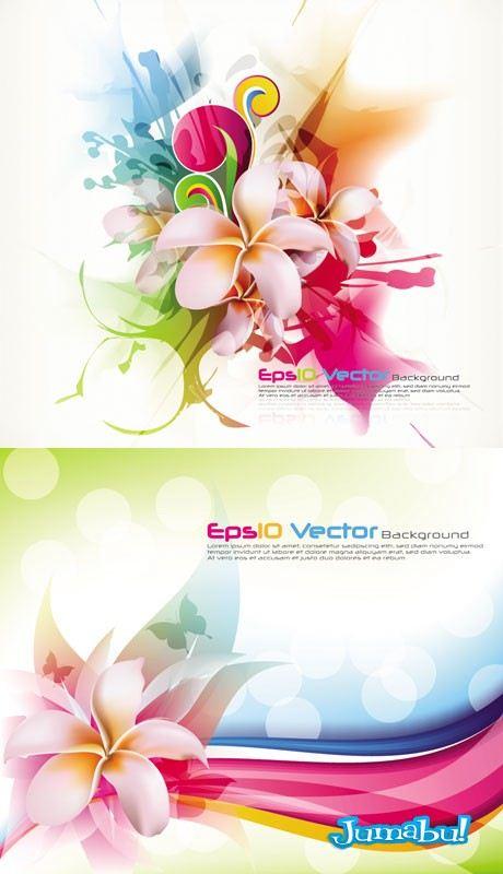 flores vectores colores - Flores Super Coloridas en Vectores