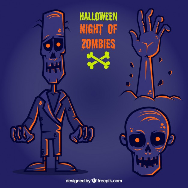 halloween night of zombies 23 2147521153 - Zombies en Vectores para Halloween 2015