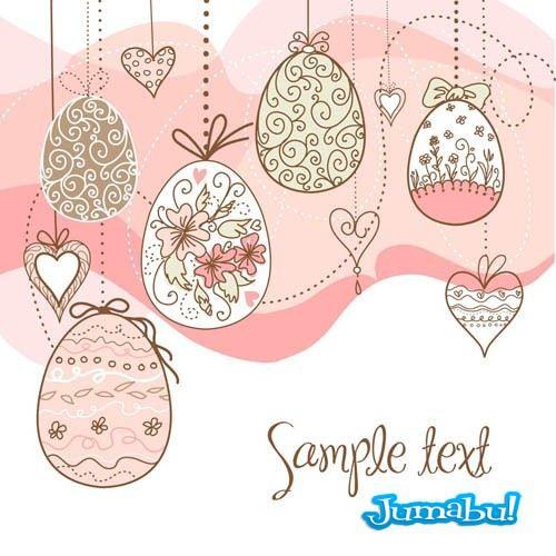 huevos-pascuas-dibujados-a-mano-colgados-hilo