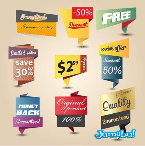 inserts tags precios ofertas en vectores - Inserts o Contenedores de Precios y Ofertas en Vectores