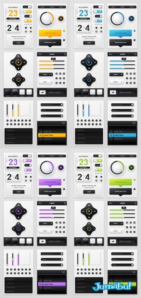 control-multimedia-botones-photoshop