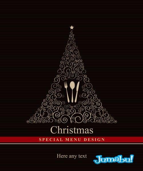 menu navidad vectores - Recursos Vectoriales para Navidad 2013